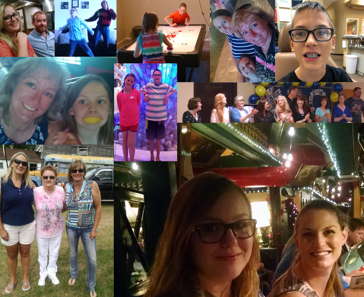 Collage Of Sandra's Family